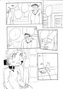 2011年ごろに描いたと思しき漫画原稿